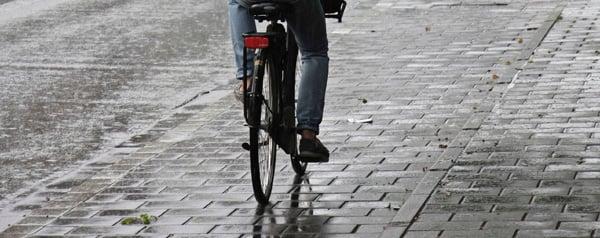Fietser in de regen
